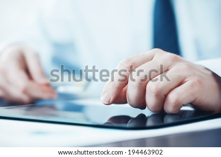 Tablet Computer and Credit Card - stock photo