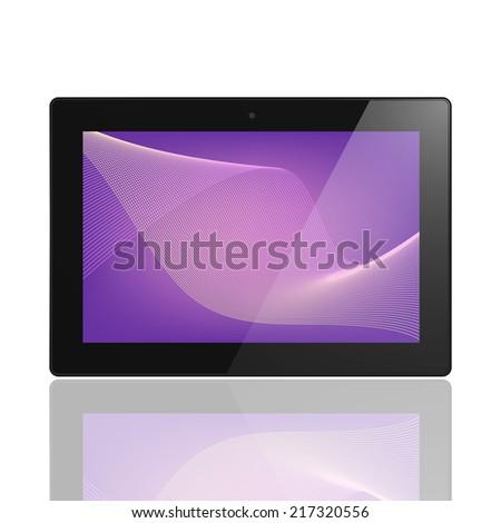 Tablet Computer Illustration Similar To iPad - stock photo