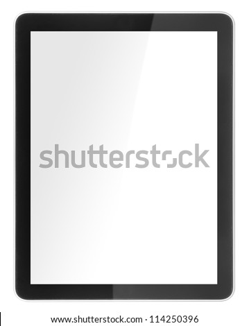 tablet computer isolated like ipades on white background  - stock photo