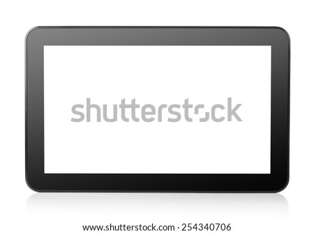 Tablet computer isolated on a white background - stock photo