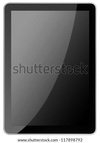 tablet computer isolated on the white backgrounds. Ipade - like pc - stock photo
