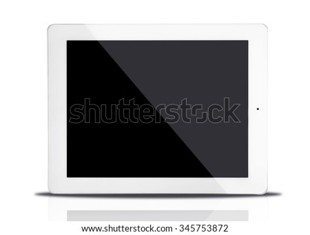 Tablet computer, isolated on white - stock photo