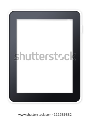 Tablet computer pc on white background - stock photo