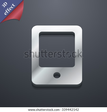 Tablet icon symbol. 3D style. Trendy, modern design with space for your text illustration. Rastrized copy - stock photo