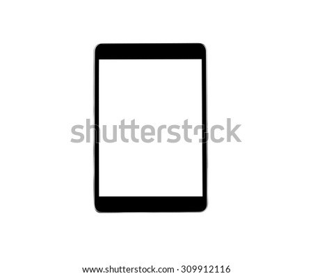 Tablet on a white background. - stock photo