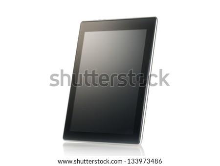 Tablet on white - stock photo
