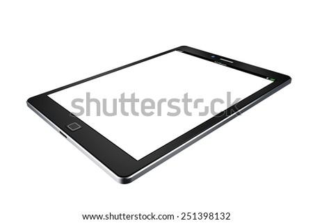 tablet on white background,tablet  illustration - stock photo