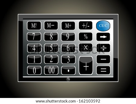 tablet pc computer keypad background