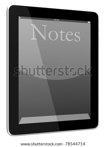 Tablet PC Computer Notes - stock photo