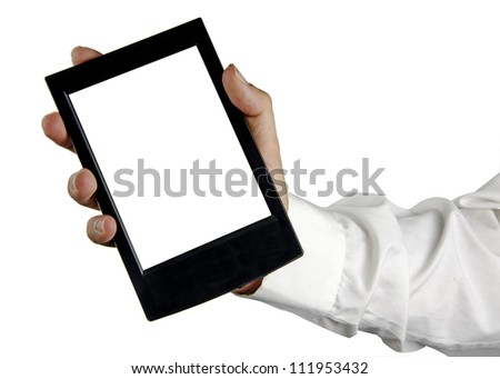 Tablet PC in hand