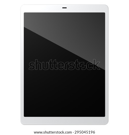tablet pc on white background - stock photo