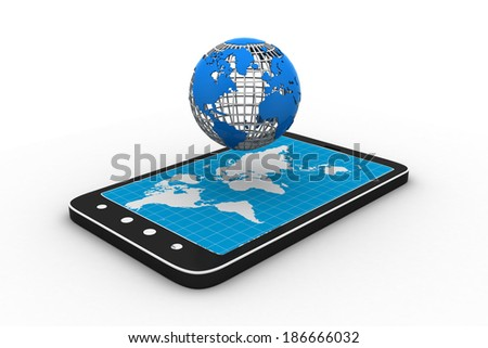 tablet PC with globe