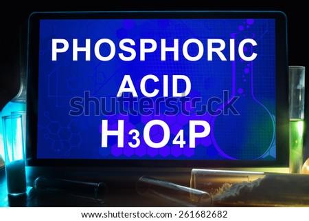 Tablet Chemical Formula Phosphoric Acid Stock Photo 261682682
