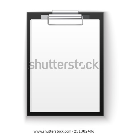 tablet with paper and notepad - stock photo
