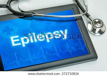 Tablet with the diagnosis Epilepsy on the display - stock photo