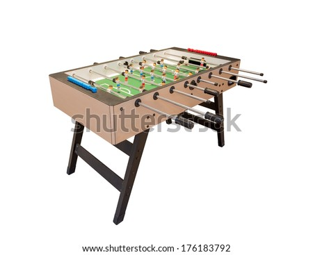 Tabletop football game. For entertainment sports. - stock photo