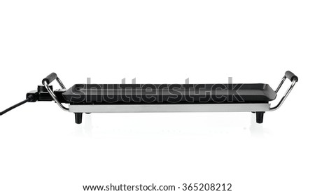 Tabletop grill, front view - stock photo
