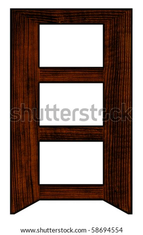 Tabletop Photo Frame  for three photos - stock photo