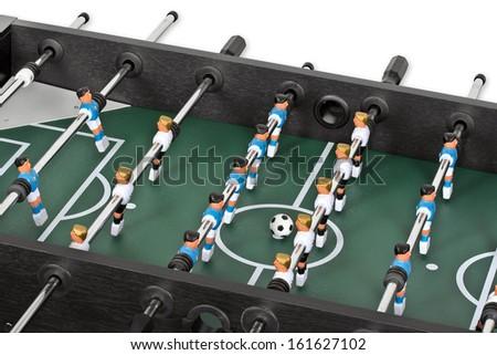 Tabletop soccer - stock photo