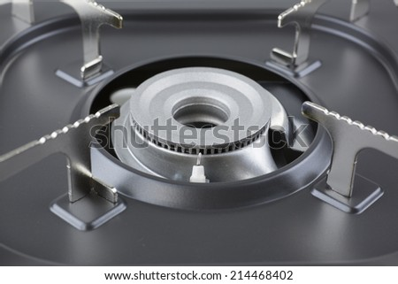 tabletop stove - stock photo