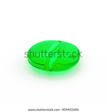 Tablets and pills isolated on white background 3d illustration