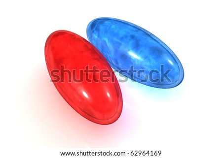Tablets of choice - a dilemma - Blue and red pill of truth and falsehood
