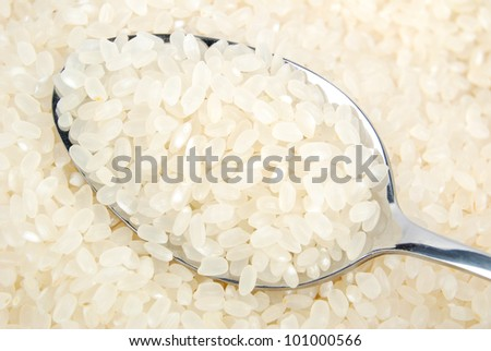 Tableware and rice