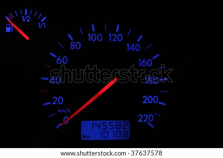 Tachometer in the night