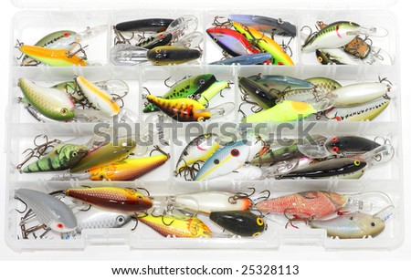 Tackle box - stock photo