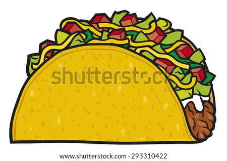 taco - mexican food - stock photo
