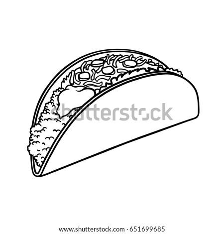 Taco Outline