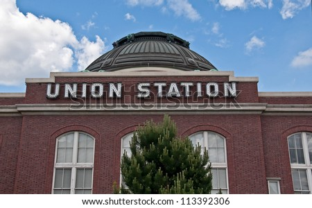 TACOMA, WA-JUNE 16: Union Station's historic restoration, turned to a Federal building, has spurred the growth of urban renewal in this previously dilapidated area of Tacoma, WA. on June 16, 2011. - stock photo