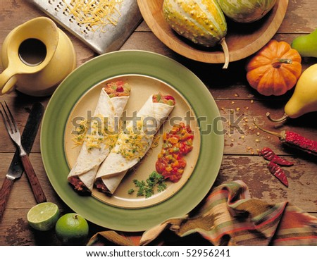 Tacos burritos - stock photo