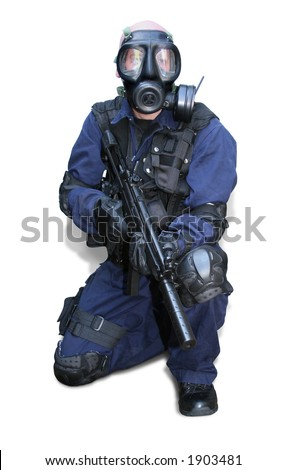 tactical officer 3 - stock photo