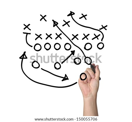 Tactics on Whiteboard, - stock photo