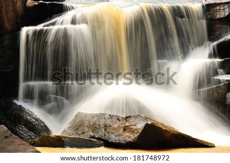 Tad tone waterfall at Chaiyaphum in Thailand - stock photo