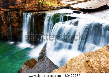 Tadtone waterfall in National park ,Chaiyaphum province Thailand