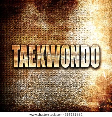 taekwondo sign background - stock photo