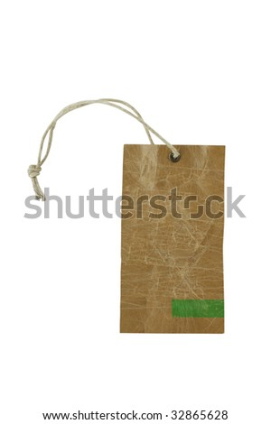 tag isolated on white background