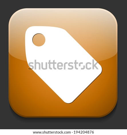 Tag label button - stock photo