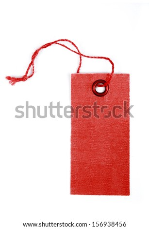 tag label isolated on white background - stock photo