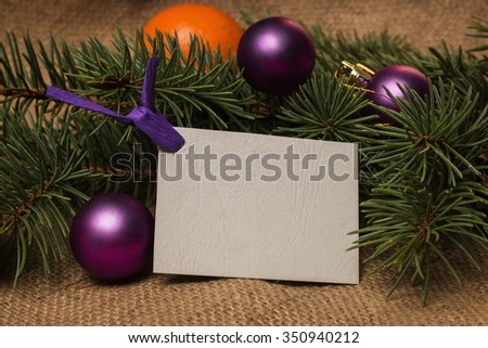 Branches christmas tree on old boards stock photo for Fir cone christmas tree decorations