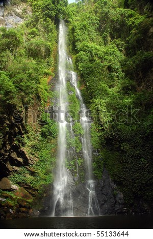 Tagbo Falls in eastern Ghana - stock photo