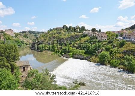 Tagus River in Toledo - stock photo