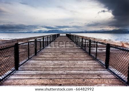 Tahoe Pier - stock photo