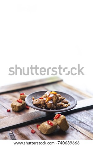 Jajanan stock images royalty free images vectors shutterstock tahu gejrot isolated in white background altavistaventures Image collections