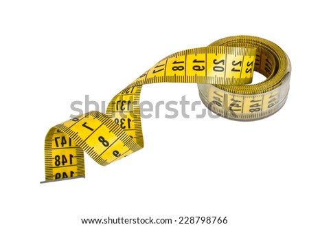 Tailor meter isolated on a white background