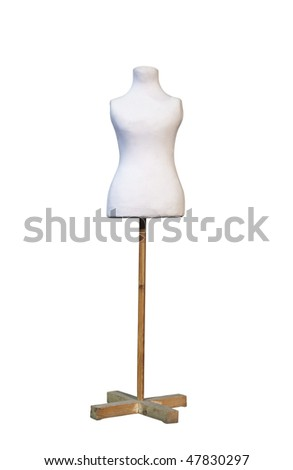 Tailors dummy mannequin with clipping path - stock photo