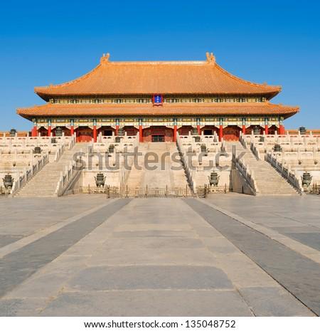 Taimiao Ancestral Temple - stock photo