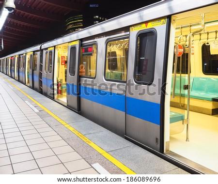 Taipei MRT in Night - stock photo